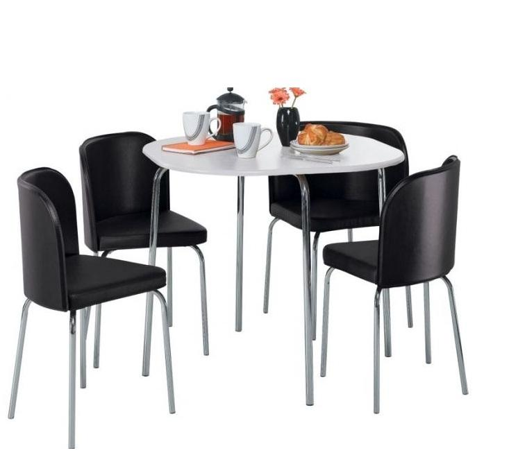 Hygena Amparo White Dining Table and 4 Black Chairs Brand  : 106382425934 from www.useddudley.co.uk size 746 x 669 jpeg 33kB