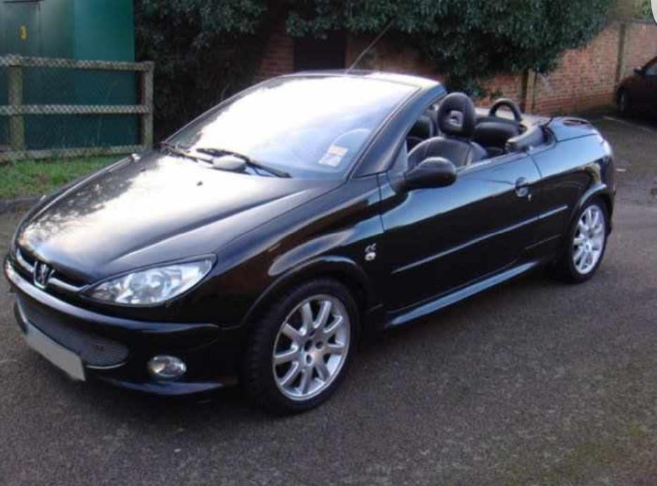 peugeot 206 cc 1 6 convertible 2006 56 low mileage outside. Black Bedroom Furniture Sets. Home Design Ideas