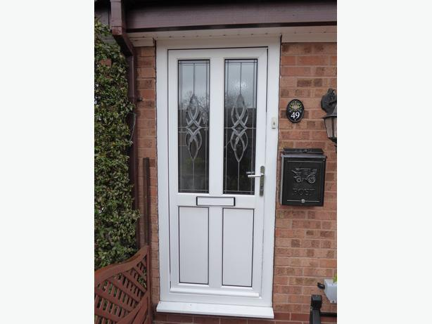 White glazed upvc front door and frame wolverhampton for Upvc door frame