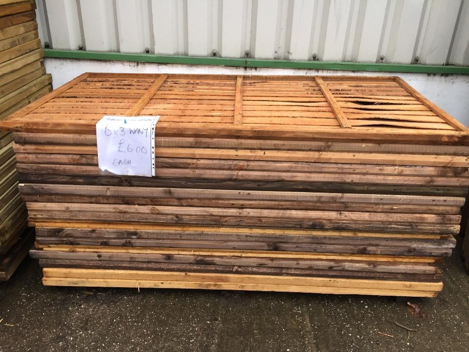 fence panels 6x3 6 each wolverhampton walsall. Black Bedroom Furniture Sets. Home Design Ideas