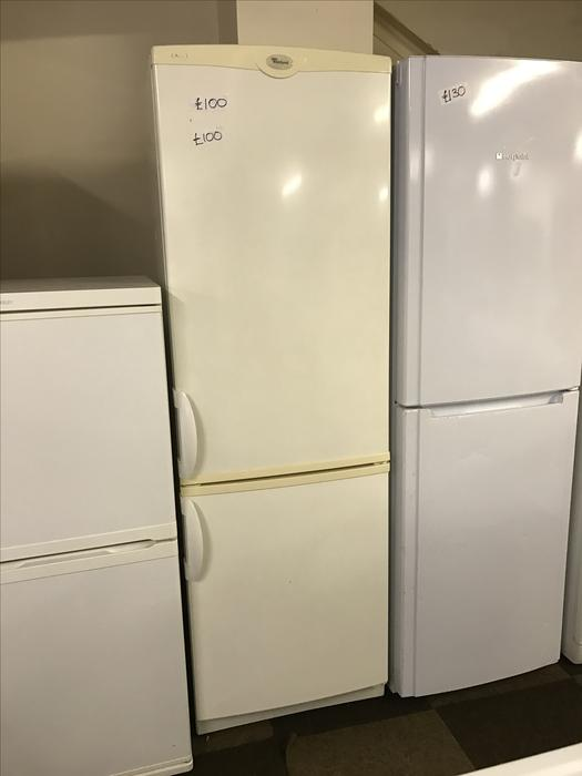 whirlpool very tall fridge freezer with guarantee. Black Bedroom Furniture Sets. Home Design Ideas