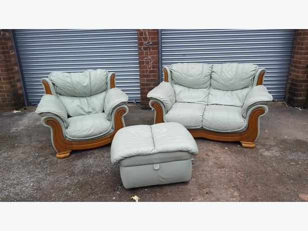 Comfy 3 Peice Leather Sofa Suite From Dfs Delivery Sandwell Dudley