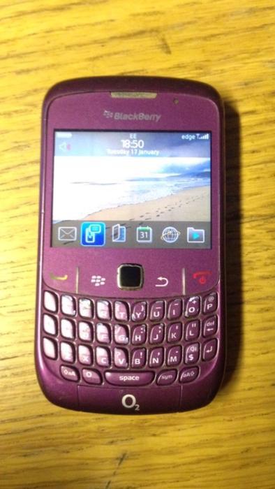 Unlocked Purple Blackberry 8520 - 41.3KB