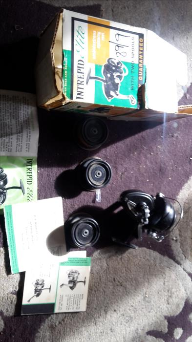 Intrepid elite fishing reel boxed as new brierley hill for Tap tap fish corgi