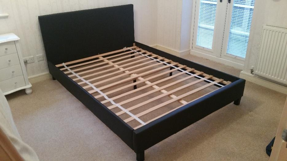 Brown Leather Double Bed Argos