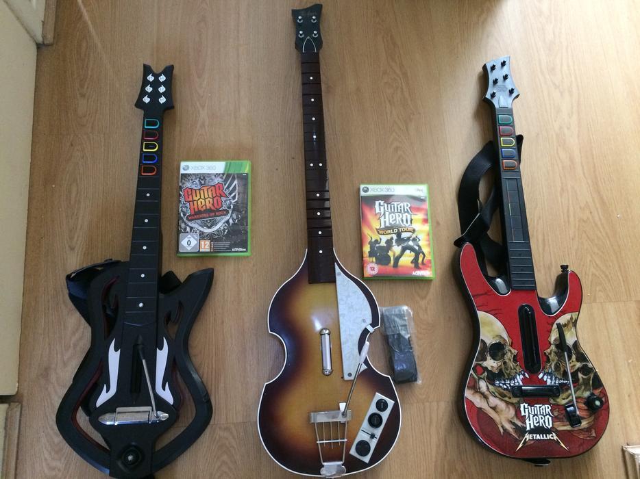 NEW Xbox 360 Guitar Hero 5 Wireless Guitar, Rock Band 3 ...  Guitar Hero Guitar Wireless Xbox 360