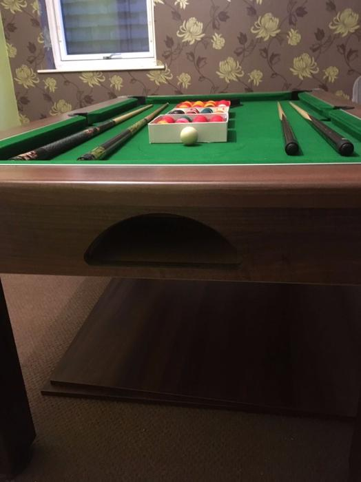 6ft x 4ft slate bed pool table bilston wolverhampton for Pool table 6 x 3