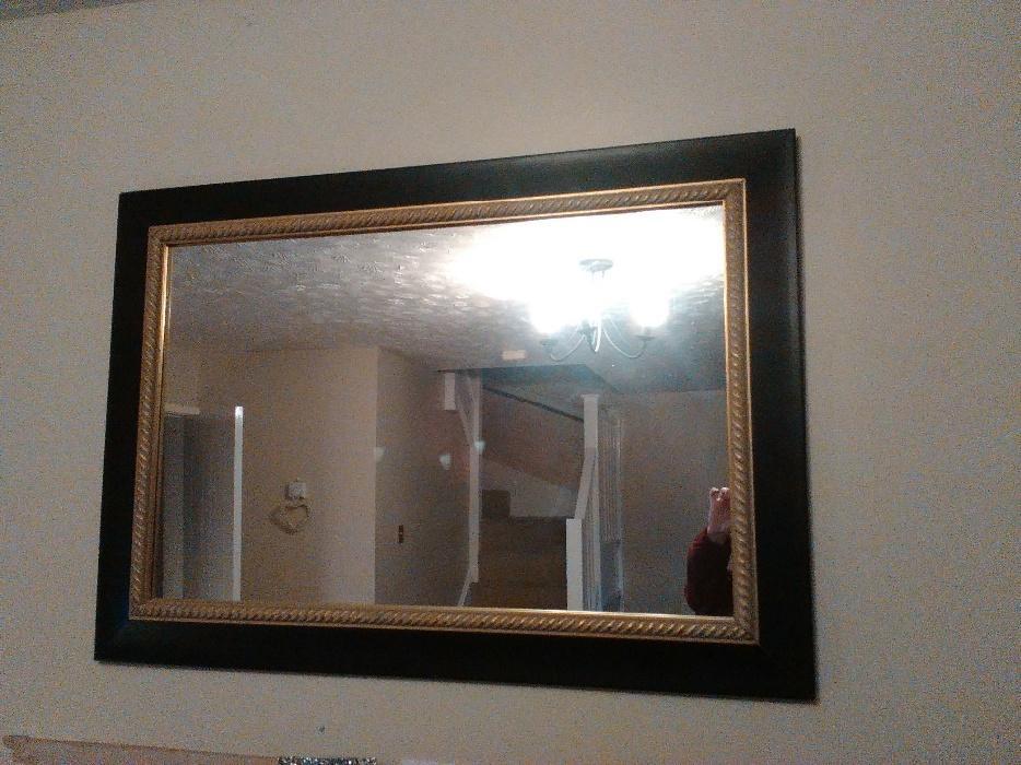 Black gold mirror 70x100cms tipton sandwell for Miroir 70 x 100