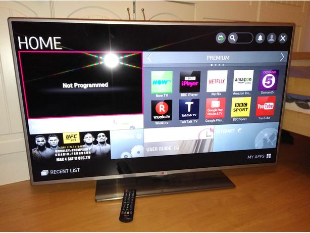 LG 47 inch LED Smart TV with WebOS Wi-Fi Apps and Freeview HD DUDLEY