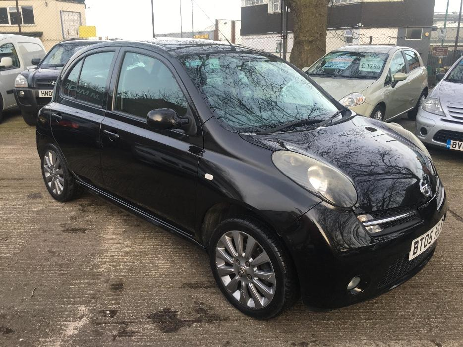 nissan micra 1 2 sport low mileage 36 000 6months warranty 12months mot outside black. Black Bedroom Furniture Sets. Home Design Ideas