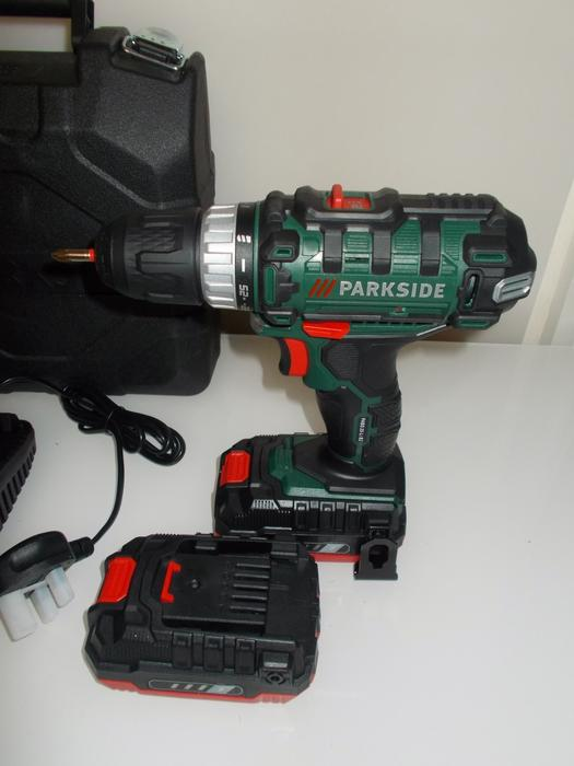 parkside 20v drill new 2 batteries 2ah cordless bilston