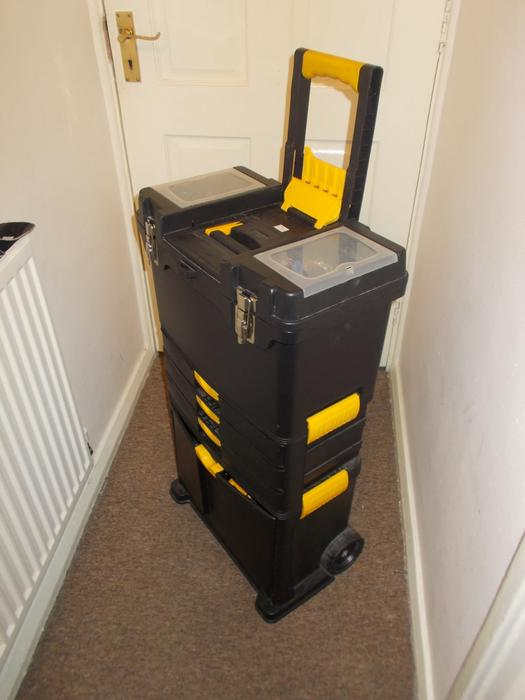Large Tool Box Multilevel 3 Drawers On Wheels Transformers Handle Clean Coseley Dudley