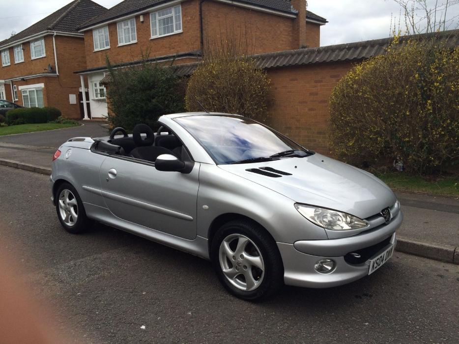 peugeot 206 cc 1 6 convertible 2004 04 other wolverhampton. Black Bedroom Furniture Sets. Home Design Ideas