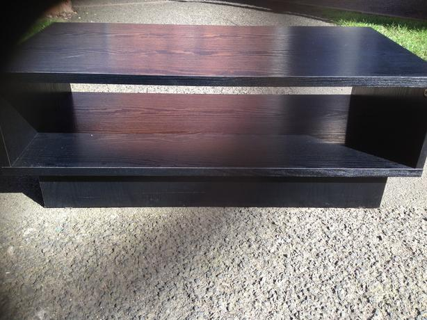 Small black wooden coffee table wednesbury dudley for Small dark wood coffee table