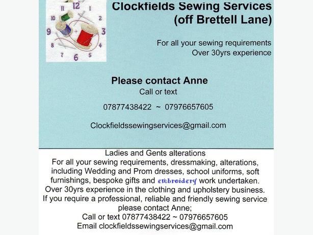 Clockfields Sewing Services