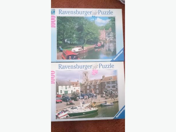 x2 1,000 piece jigsaws £1.75each or both for £3