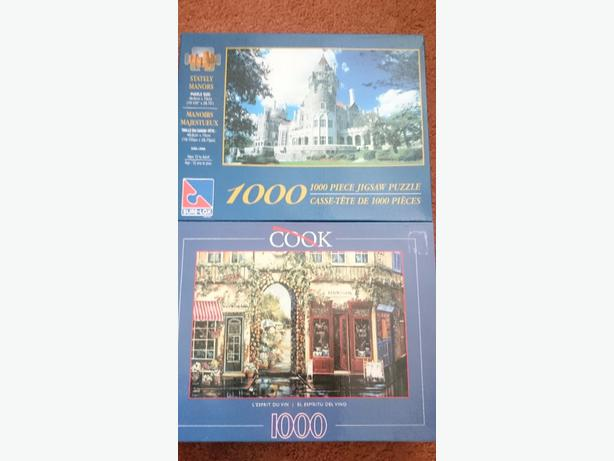 x2 1,000 piece  jigsaw puzzle £1.50 each only