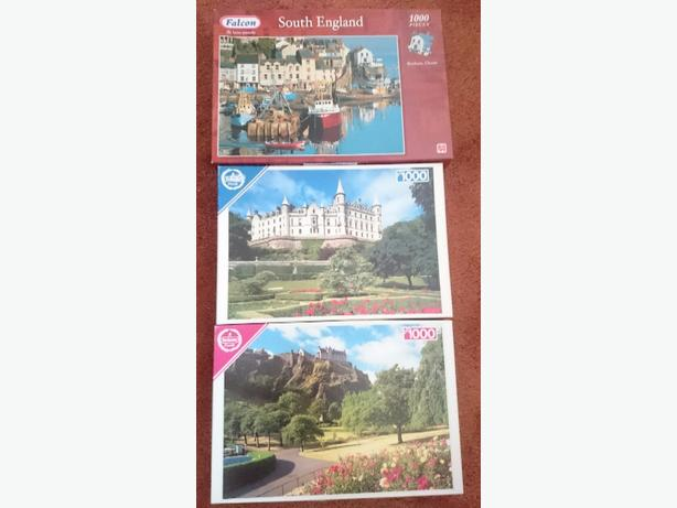 x3 1,000 piece jigsaw puzzles £1.75each or all x3 for £5