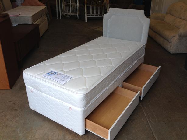39 sealy 39 2 drawer divan single bed new unused can for New single divan beds