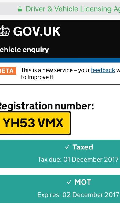 Can i check my mot expiry date online in Sydney