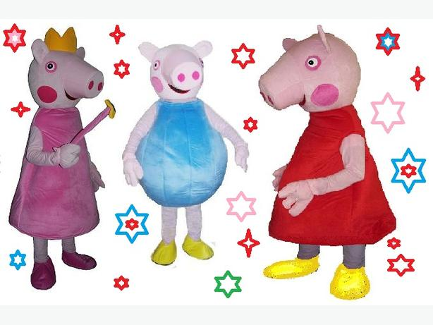 25 Peppa George Pig Adult Mascot Fancy Dress Costume Party Hire