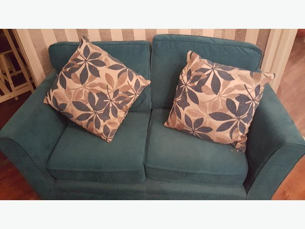 Teal Two Seater Sofa Walsall Dudley