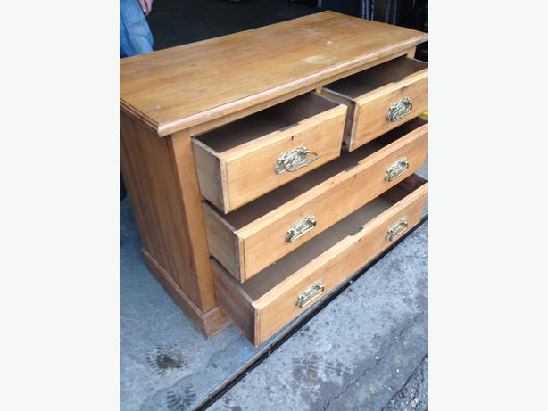 beautiful satin wood bedroom chest of drawers c1910 can deliver brierley hill dudley mobile. Black Bedroom Furniture Sets. Home Design Ideas
