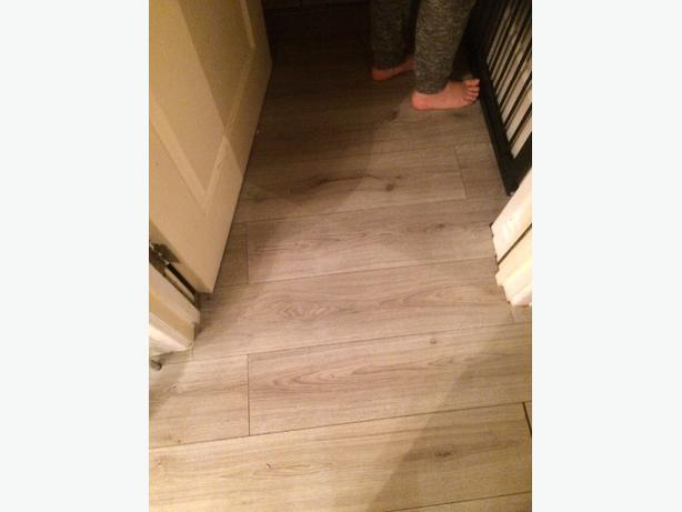 Grey laminate flooring coseley dudley for Riva laminate flooring