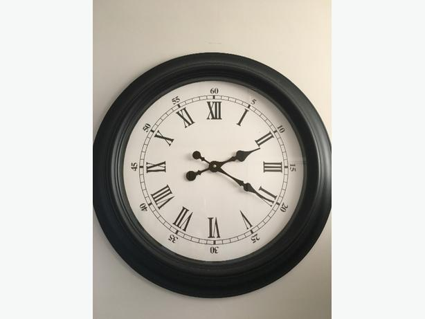 extra large black numeral wall clock dudley dudley mobile. Black Bedroom Furniture Sets. Home Design Ideas