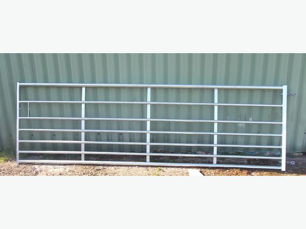 12ft and 10ft Galvanised Steel 7 Bar Field Gate