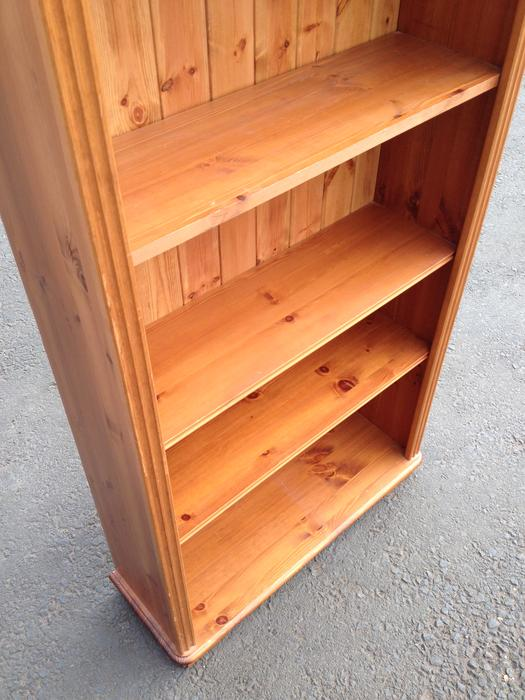Lovely quality solid pine wood 3 x 6ft bookcase shelving for Furniture 30cm deep