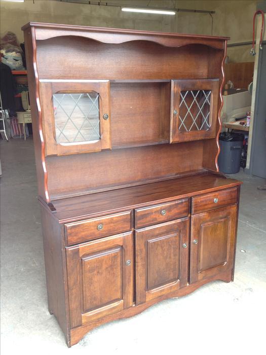 4 5ft Oak Wood Dresser Wall Unit Sideboard Can