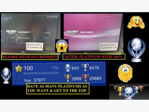 PLATINUM TROPHIES & MODDED ACCOUNTS FOR SALE ** PS3 ONLY **