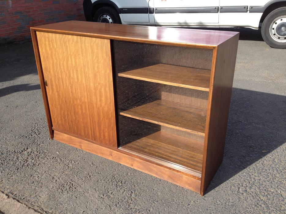 Lovely solid mahogany wood glazed bookcase display