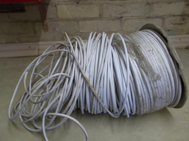 Roll of 6 core telephone cable.