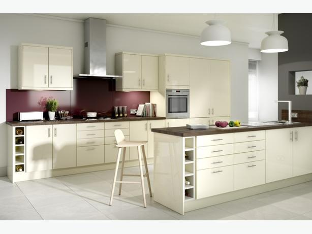 7 Piece Kitchen Units - Cream Gloss - BRAND NEW