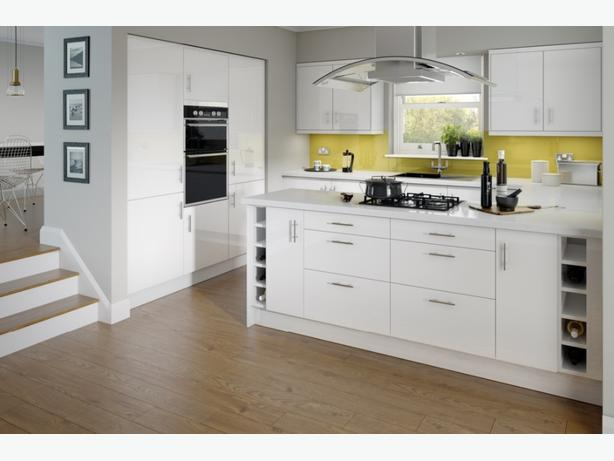 7 Piece Kitchen Units - White High Gloss - BRAND NEW
