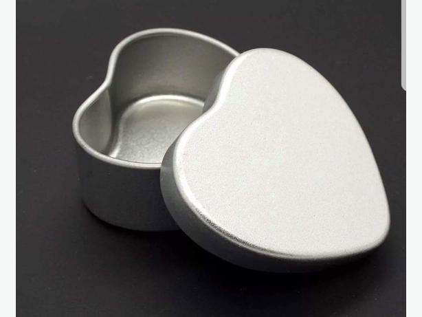 Trinket Box Heart Tin Ring Box Favor Box