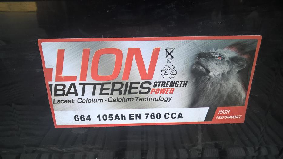 Lion Batteries Commercial Battery 105Ah Type 664 760CCA OEM Quality Replacement