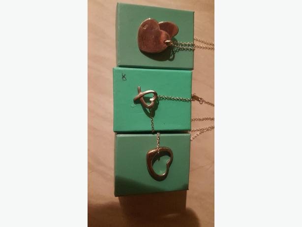 3 heart silva necklaces