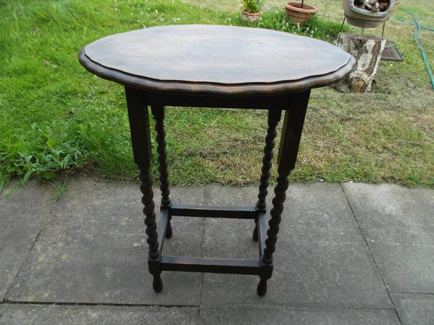 1960,s table, with barley twist legs