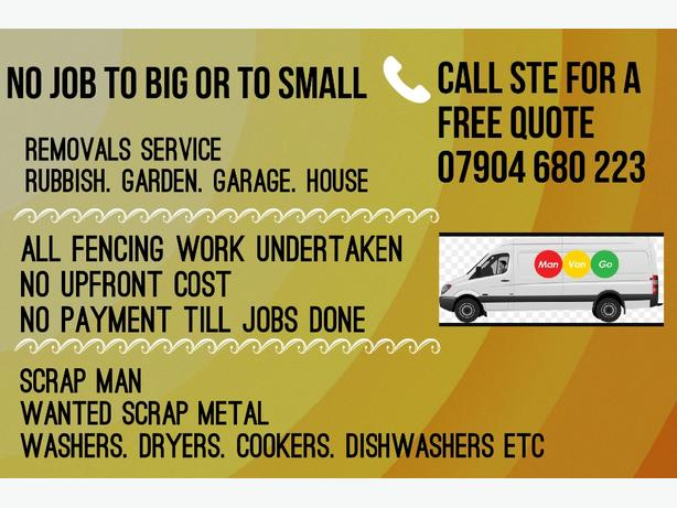Removals. Fencing & scrap metal wanted