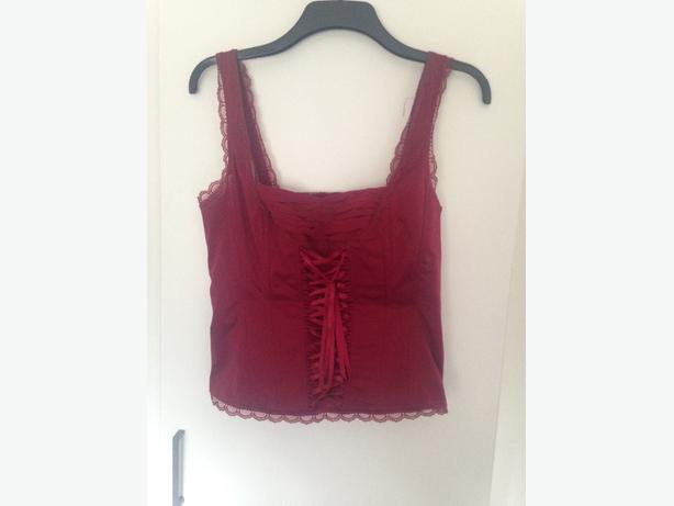 Womens red corest top size 14