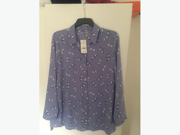 Womens blue blouse, size 16