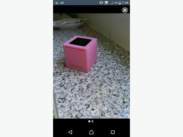 Pink Polaroid Bluetooth speaker