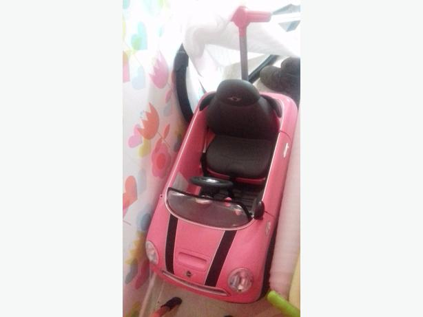 push along pink mini, trike, dolls house &pram