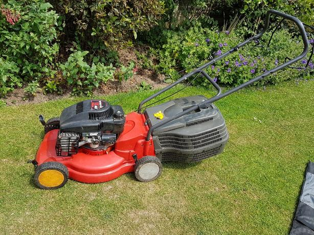 petrol rotary lawnmower