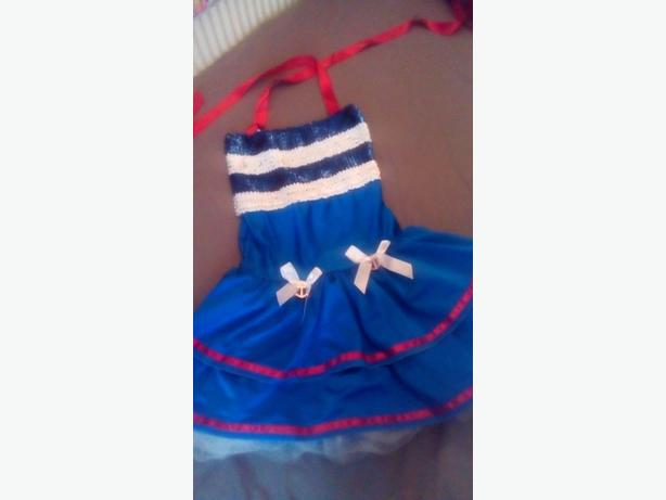 Fancy dress navy/sailor woman costume