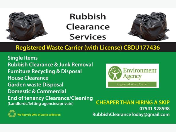 FOR TRADE: Rubbish Removals & House Clearance