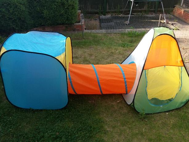 Brand New Playtive Junior pop up Tents with Tunel